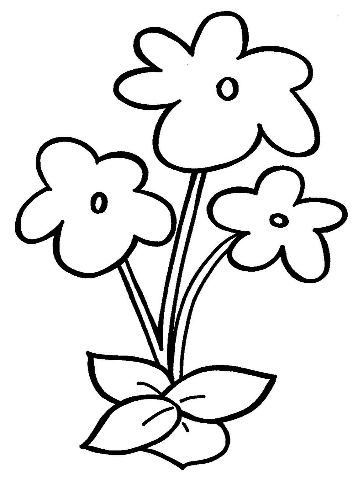 Free Coloring Pages Of Simple Flower Easy Flower Coloring Pages