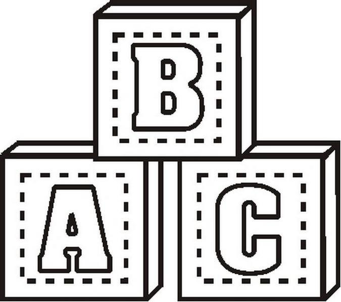 Pin Abc Blocks Colouring Pages Page 2 On Pinterest
