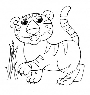 baby jungle animals coloring pages coloring pages. Black Bedroom Furniture Sets. Home Design Ideas
